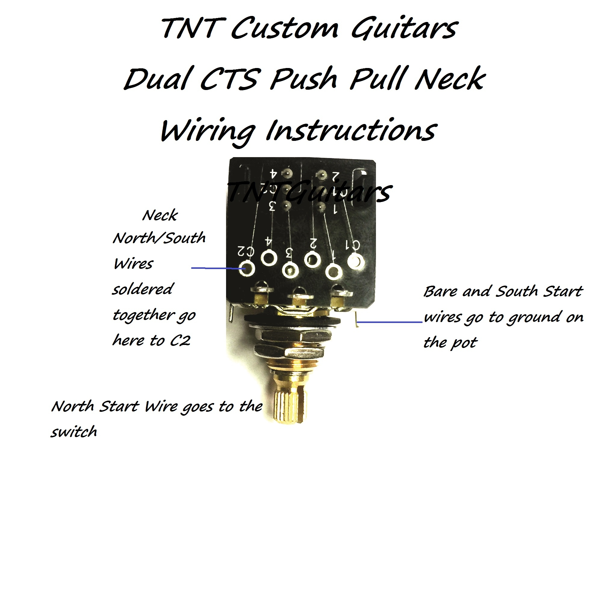 1034CTSppwireinstructionsforNeck 1v2t prewired harness, 2 pickup cts push pull dual coil cut cts push pull pot wiring diagram at alyssarenee.co
