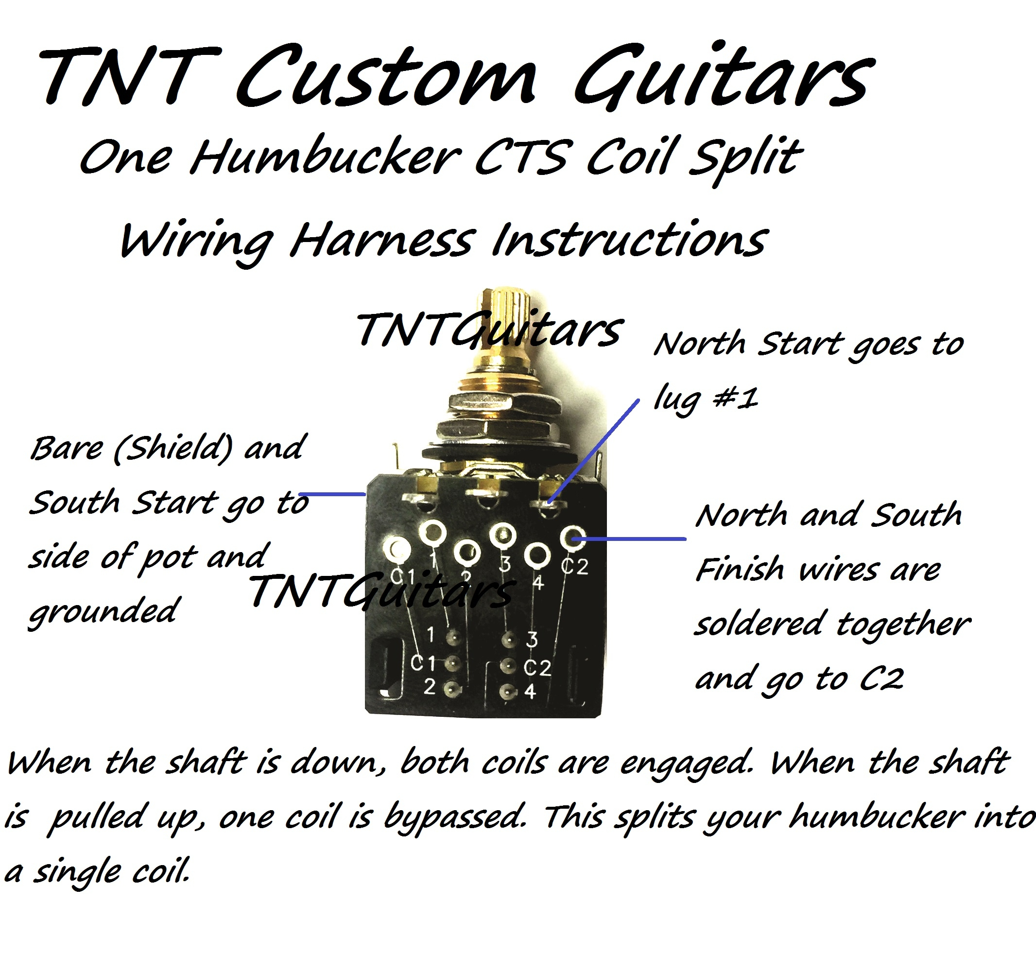 Pull Pot Humbucker Coil Split Wiring Diagram Master 1v1t One Pickup Harness Cts Push Rh Dragonfireguitars Com Dpdt Single