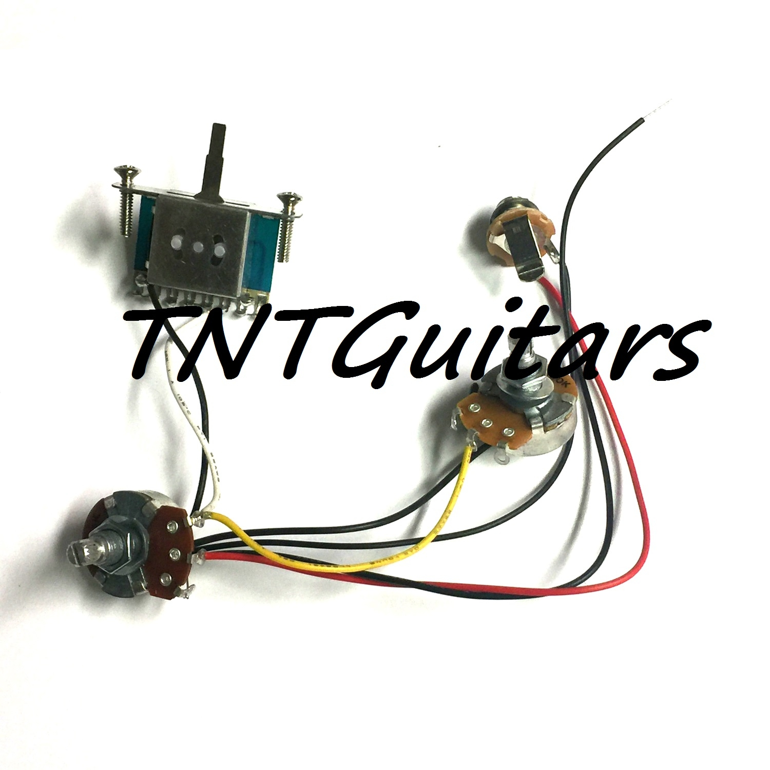 1V1T Prewired Harness, 2 Pickup Standard 3 Way Blade Switch on