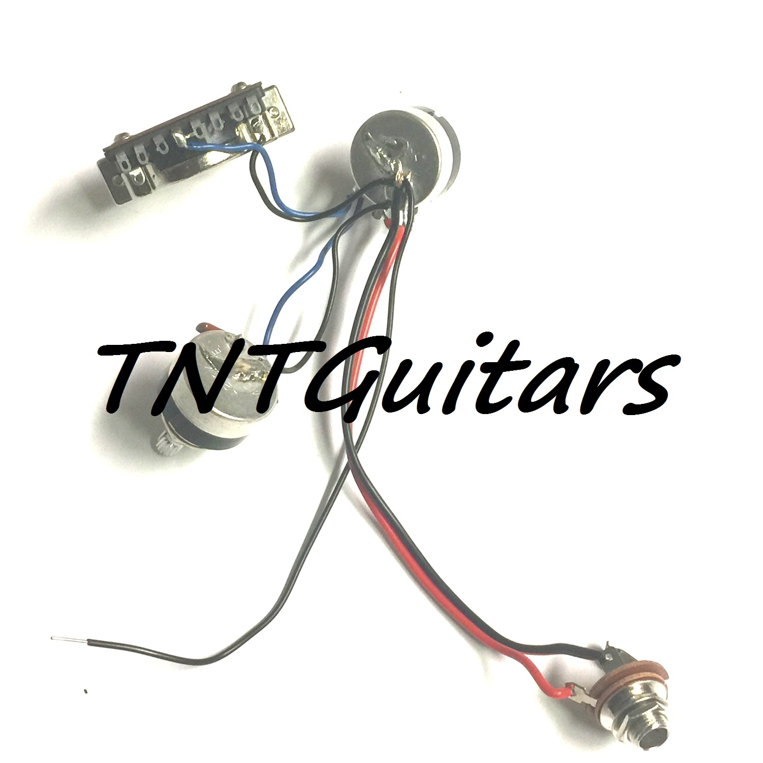 1v1t Prewired Harness 2 Pickup W Sealed Pots 3 Way Switch Guitar Wiring Volume Tone 3way Jack