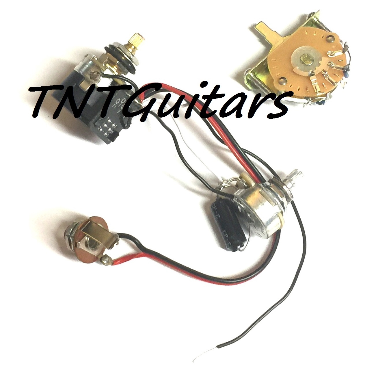 1v1t Prewired Harness 2 Pickup Cts Push Pull Pots 3 Way Fcs Blade Pushpull Pot For Tone Control Also Capacitors Are Not Typical Switch