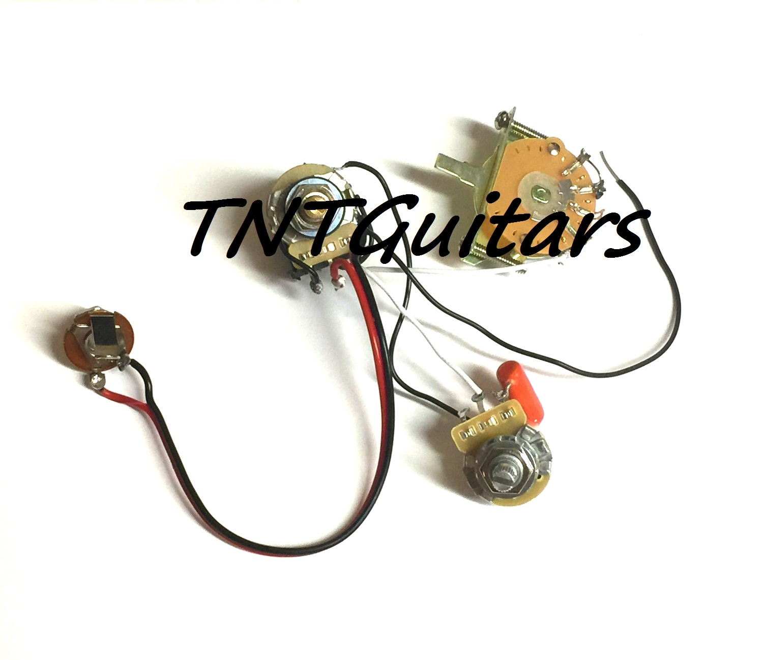 1v1t Prewired Harness 2 Pickup Cts Push Pull Pots 3 Way Fcs Blade Set Of Strat Wiring 5 Switch 500k Full Size