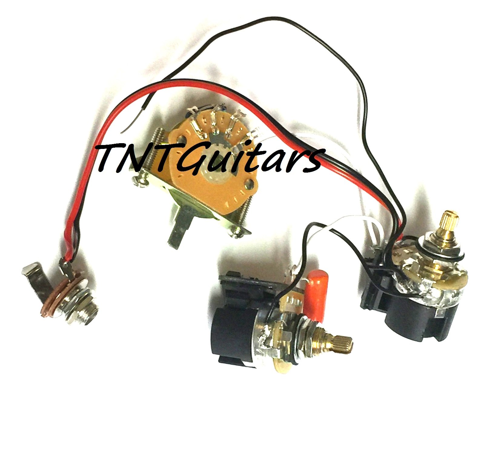 1v1t Prewired Harness 2 Pickup Cts Push Pull Dual Coil Cut Dragonfire Two Wiring 500k Toggle Chrome Great With