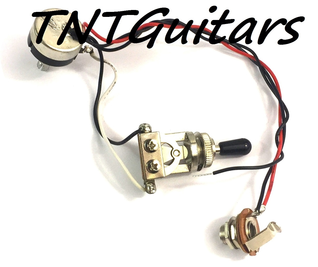 1v Prewired Harness 2 Pickup W Sealed Pot 3 Way Toggle Switch Guitar Wiring Volume Tone 3way Jack