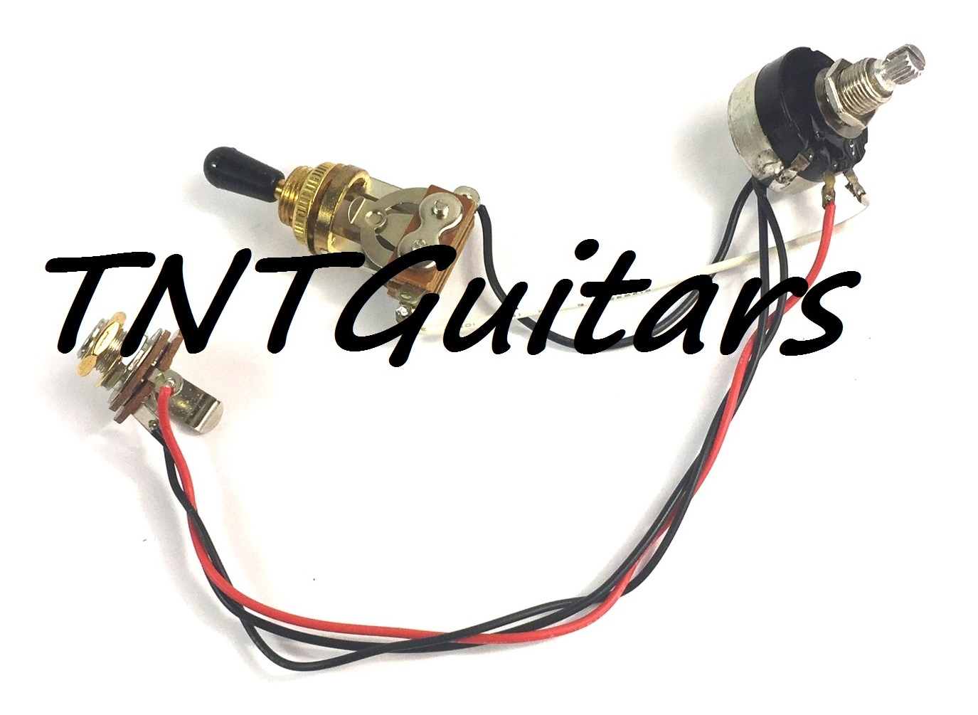 1v Prewired Harness 2 Pickup W Sealed Pot 3 Way Toggle Switch Dragonfire Two Wiring 500k Chrome Great With