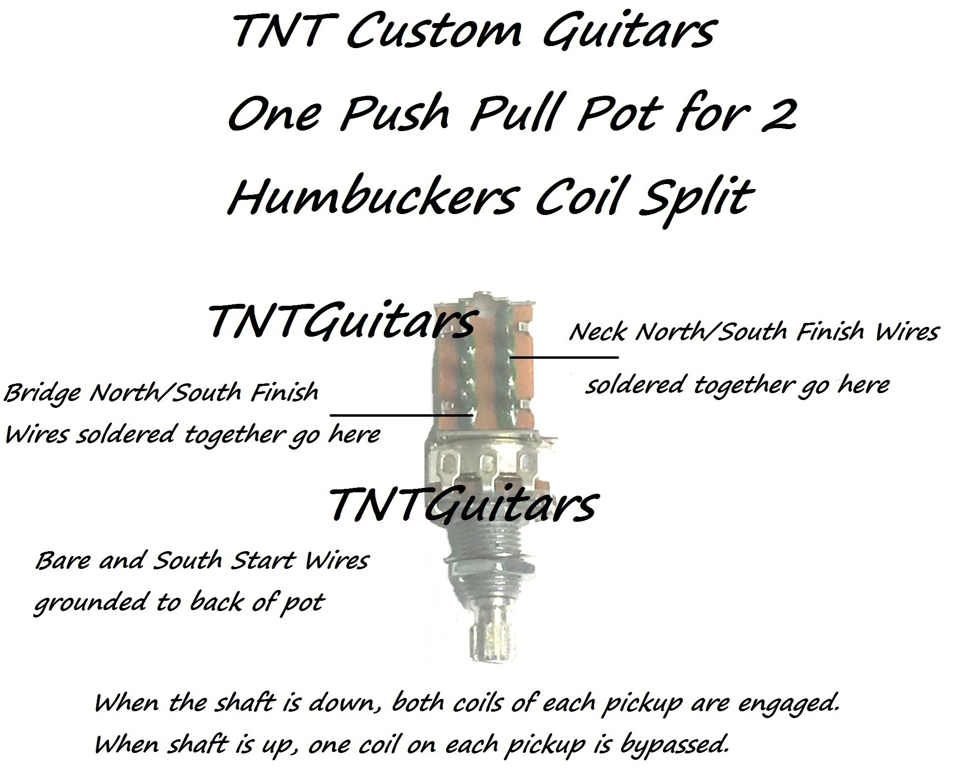 1v Prewired Harness, 2 Pickup, Push Pull Pot & 3 Way Sealed Switch Push  Pull Coil Tap Wiring-Diagram Fender Stratocaster HSS Push Pull Coil Tap  Wiring