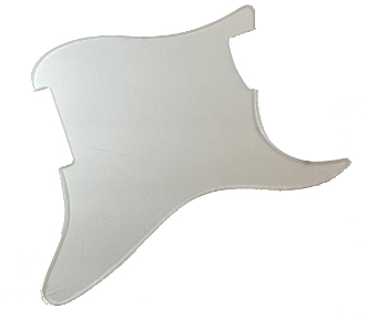 Replacement Guitar Pickguard Fits SG Standard 1-ply Clear Transparent
