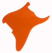 Blank Strat Pickguard, Create Your Own Custom Strat Guard ~ Fluorescent / Transparent Orange