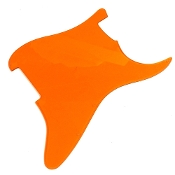 Blank Strat Pickguard, Create Your Own Custom Strat Guard ~ Transparent Orange